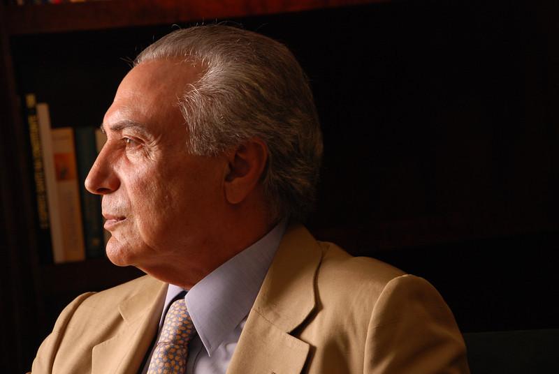 Michel Temer, presidente da Câmara dos Deputados, São Paulo, 2010, Brasil.