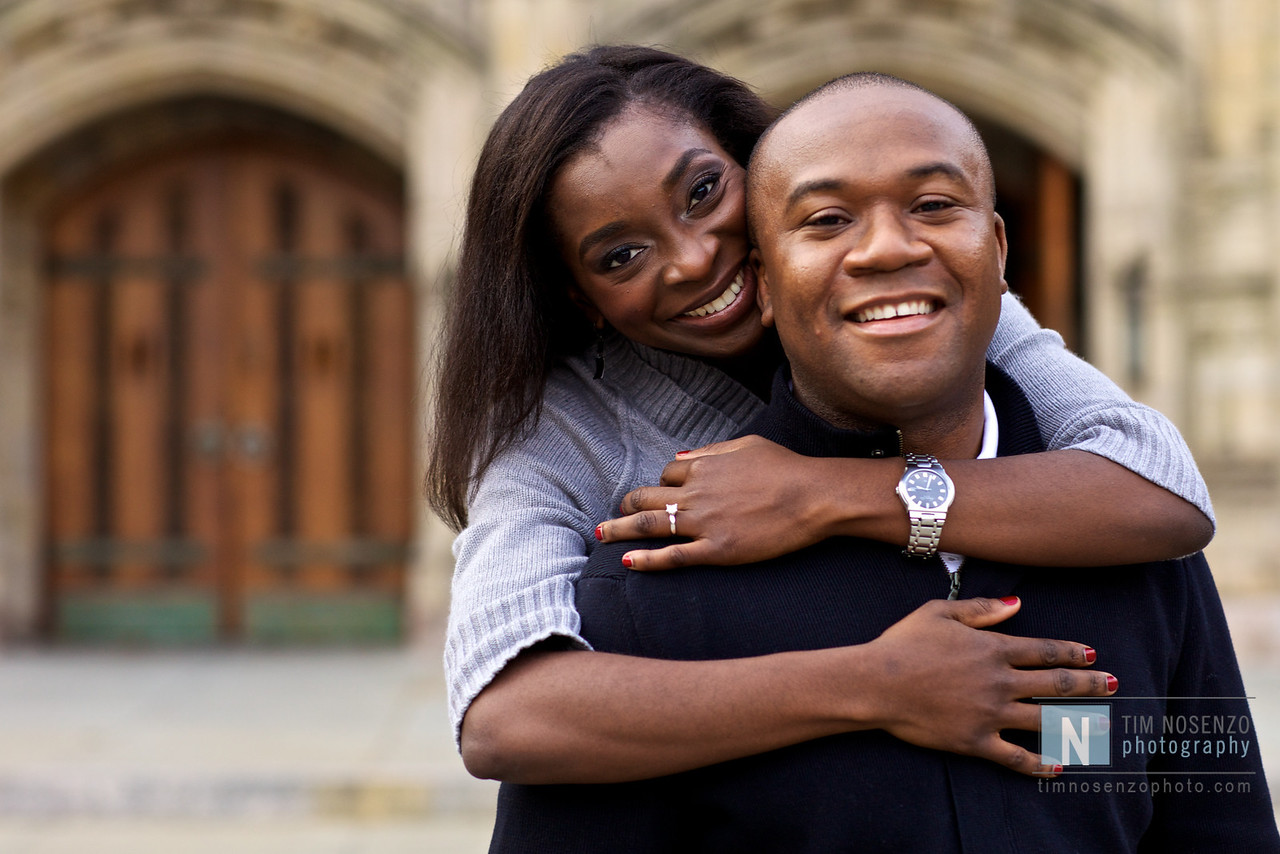 Bola + Abiodun's Engagement :: Yale Campus :: New Haven, CT