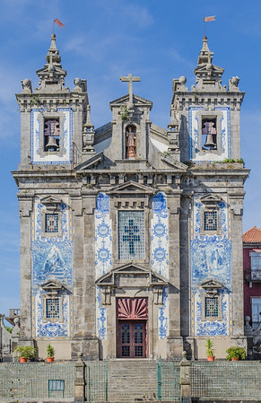 Santo Ildefonso baroque church, Porto