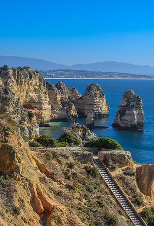 The Ponta da Piedade coastline near Lagos