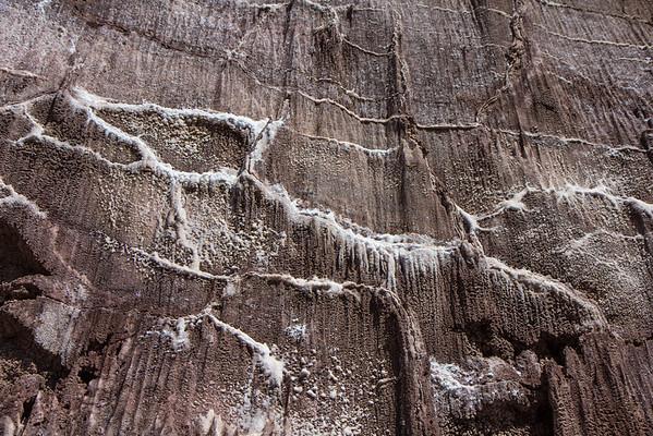 Salt cave walls