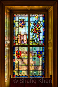 One of the Stained Glass Windows at Lancaster Museum
