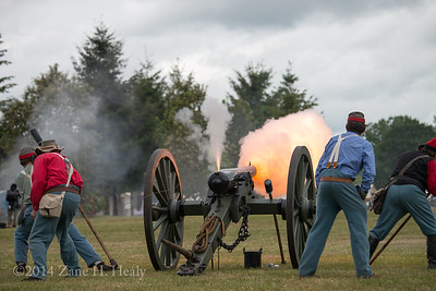 Vent Hole Flame! The first battle on May 18th at the Cheadle Lake Reenactment in Lebanon, Oregon.