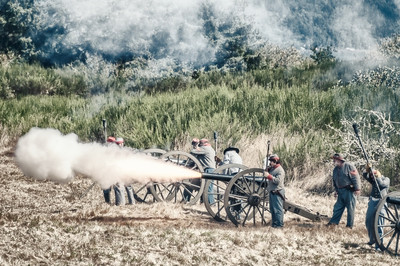 Confederate Cannonfire
