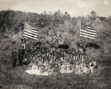 4th Regt. US Infantry September 1st, 2012 outside the earthworks fortification at Fort Stevens.
