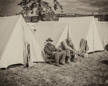Resting Before the Coming Battle September 1st, 2012 at the Fort Stevens Civil War Reenactment.