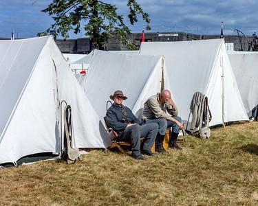Resting Before the Coming Battle September 1st, 2012 at the Fort Stevens Civil War Reenactment.