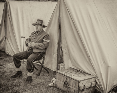 In Camp September 1st, 2012 at the Fort Stevens Civil War Reenactment.