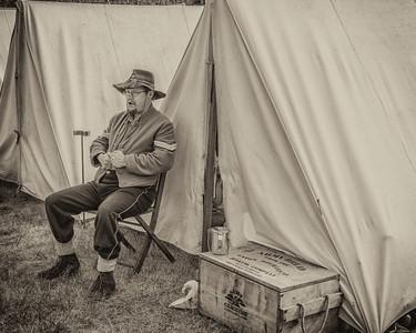 In Camp September 1st, 2012 at the Fort Stevens Civil War Reenactment.