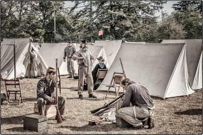 "Confederate Encampment Uncropped ""Photochrom"""