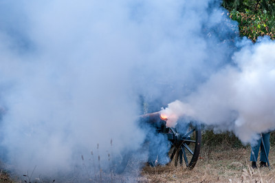 Cannon Fire September 23rd, 2012 at the McIver Civil War Reenactment.