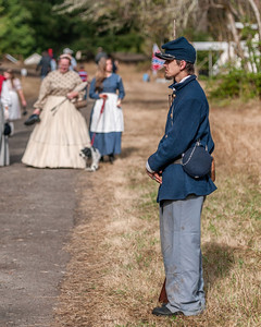 Union Sentry September 22nd, 2012 at the McIver Civil War Reenactment.