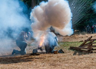 Mortar Fire September 23rd, 2012 at the McIver Civil War Reenactment.
