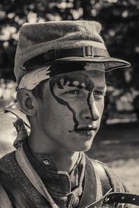 Wounded Soldier September 23rd, 2012 at the McIver Civil War Reenactment.