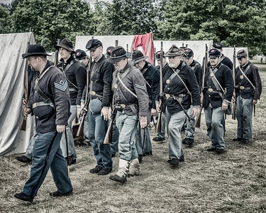 Union Troops 8x10, Colourized B&W