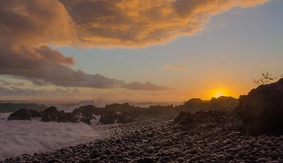Saint Pierre at sunset