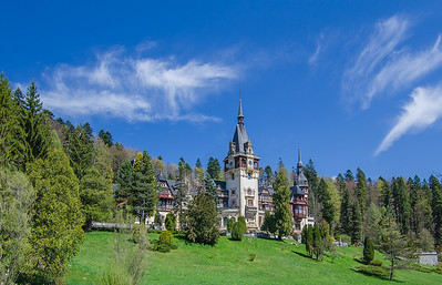 Peleș Castle in the Carpathian mountains