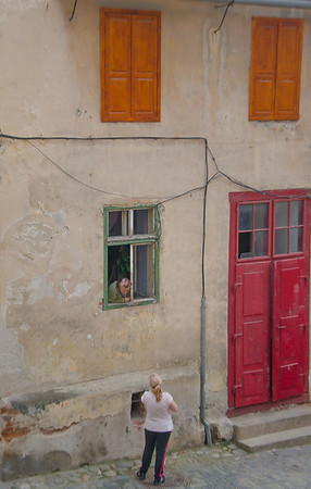 Afternoon chat, Sibiu