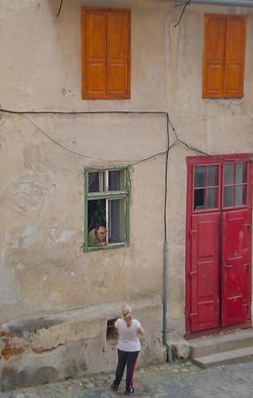 Afternoon chat, Sibiu