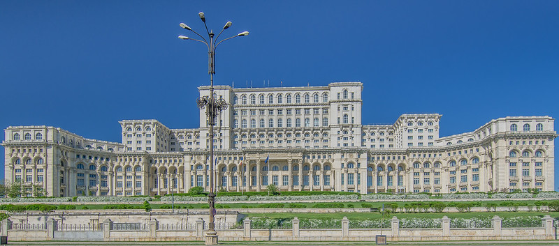 The Palace of the Parliament in Bucharest