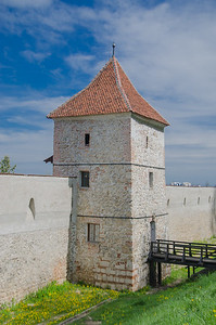 The powder store tower (the Carpenter's tower) in the medieval city of Brasov