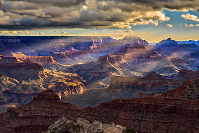 Dancing Sunlight - South Rim Grand Canyon