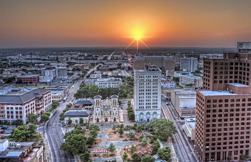 San Antonio Skyline Sunset