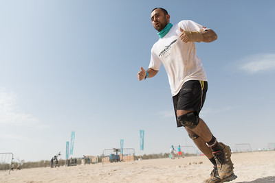 Dubai, UAE - Feb 10, 2017: Participant competing on SandstormDXB race.
