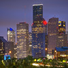 """Zoomed In"" - Houston Downtown a close-up view from Buffalo Bayou"
