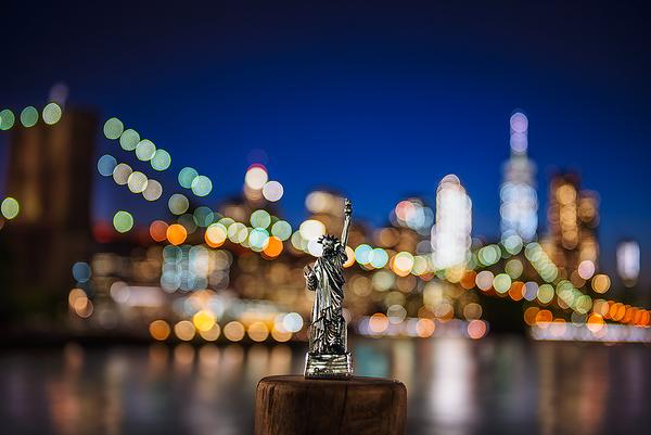 Liberty overlooking Manhattan, New York City