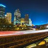 Houston downtown as seen during evening rush hours