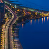 Chicago's North Lake Shore Drive (close-up view)