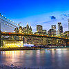 Brooklyn Bridge - Lower Manhattan - Skyline from Brooklyn Bridge Park\, New York City