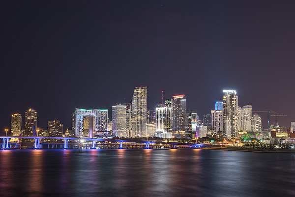 Miami Skyline from MacArthur Causeway
