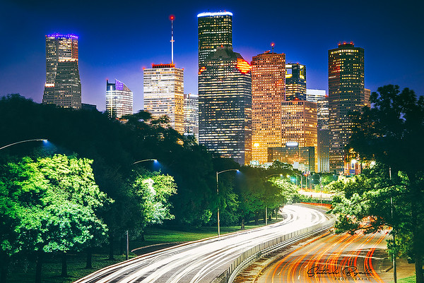 Houston Downtown from Buffalo Bayou