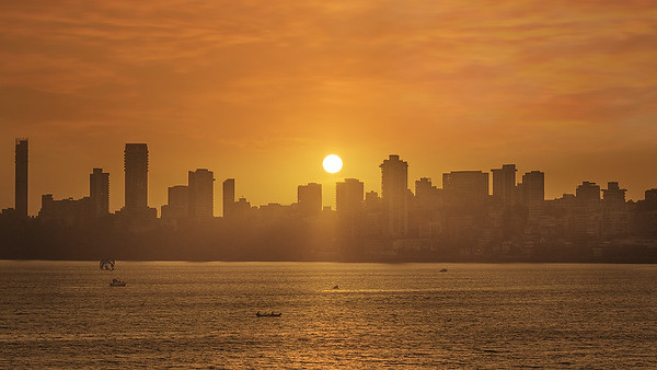 Mumbai's Sunset from Walkeshwar / Back Bay
