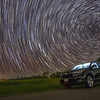 StarTrails over Toyota Highlander at Yogi Bear's Jellystone Park - Waller, Texas