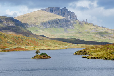 Loch Leathan and the Old Man of Storr, Isle of Skye
