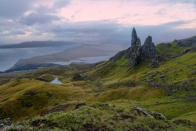 Cloudy Sunrise at the Old Man of Storr, Isle of Skye