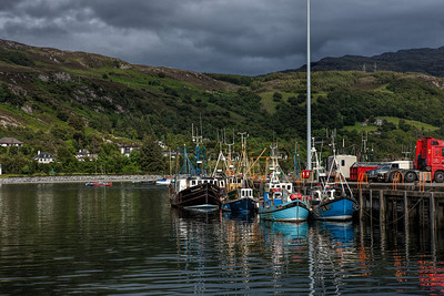 Ullapool harbour, Scotland
