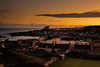 Findochty Harbour, Moray, Scotland at sunrise.