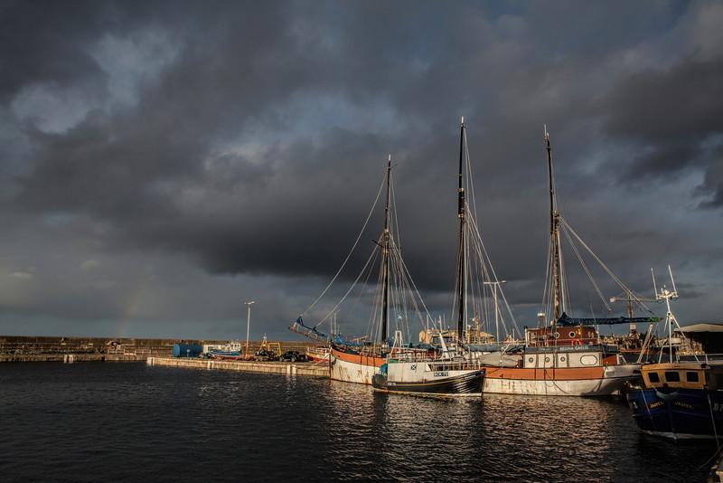 Buckie Harbour, Moray, Scotland.