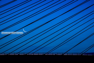 Indian River Bridge Moon