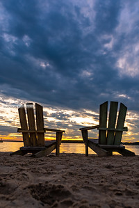 Two Chairs Sunset