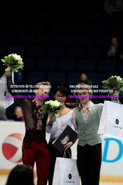 2.Sergei VORONOV (RUS)241.37 1.Yuzuru HANYU(JPN)265.59  3.Artur GACHINSKI (RUS) 212.90