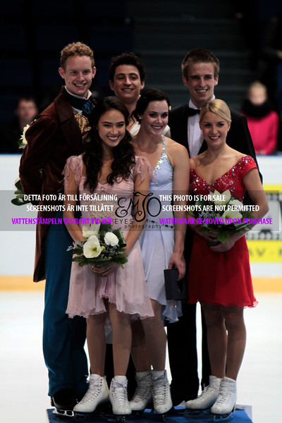 Madison CHOCK / Evan BATES  (USA), Tessa VIRTUE / Scott MOIR	(CAN), Justyna PLUTOWSKA / Peter GERBER	(POL)
