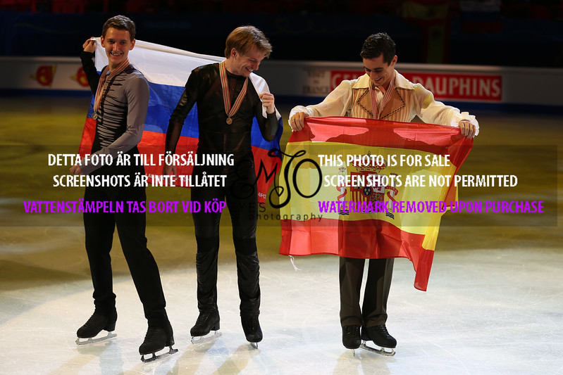 Silver Maxim KOVTUN (RUS), Gold Javier FERNANDEZ(ESP), Bronze Sergei VORONOV (RUS)