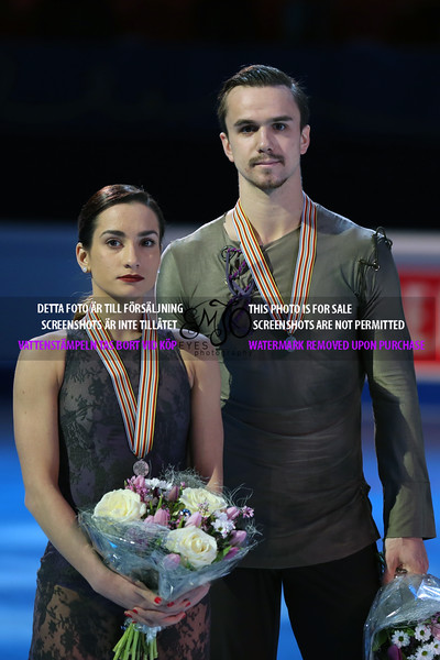 Silver medalists Ksenia STOLBOVA / Fedor KLIMOV