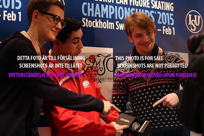 Maxim KOVTUN (RUS) ,Javier FERNANDEZ (RUS) and Sergei VORONOV (RUS)