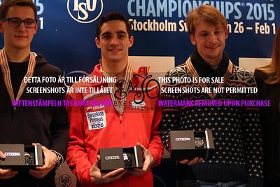 Maxim KOVTUN (RUS), Javier FERNANDEZ (ESP) and Sergei VORONOV (RUS)